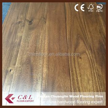 Acacia Handscraped Wood Flooring Asian Walnut Handscraped Wood