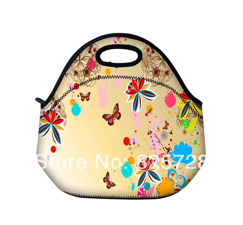Cute Flower Amp Butterfly Neoprene Thermal Insulated Portable