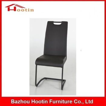 Modern Hot High Quality Black Leather Most Comfortable Factory Prices Hand Carry Metal Kitchen Chairs