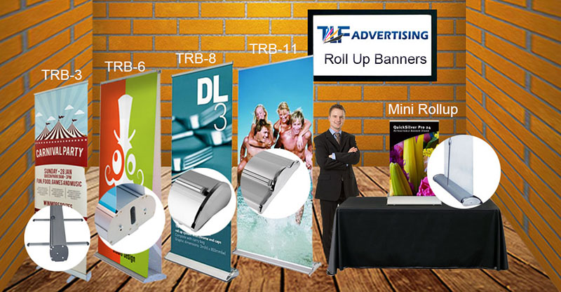 High quality custom colorful economy standard exhibition roll up banner