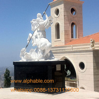 Customized marble St george statue