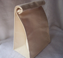 Reusable Cotton Canvas Lunch Bag Recycled Foldable Cooler Bag