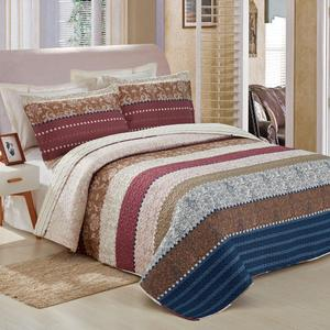 3pcs free quilted pattern printing bedspread