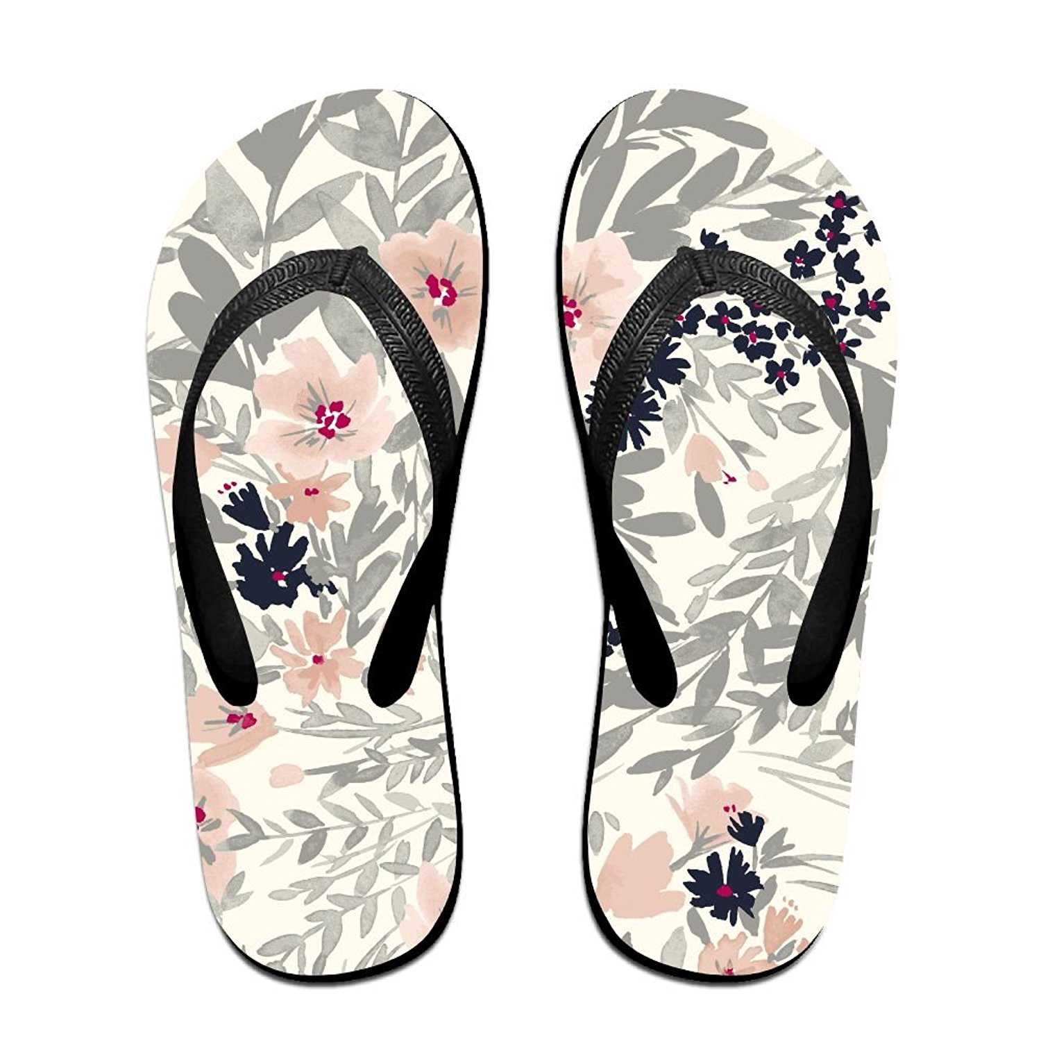 bedd4a263 Get Quotations · Pink FlowersComfortable Flip-Flop Summer Beach Sandals  Bright Colours And Multiple Sizes Soft Slippers For