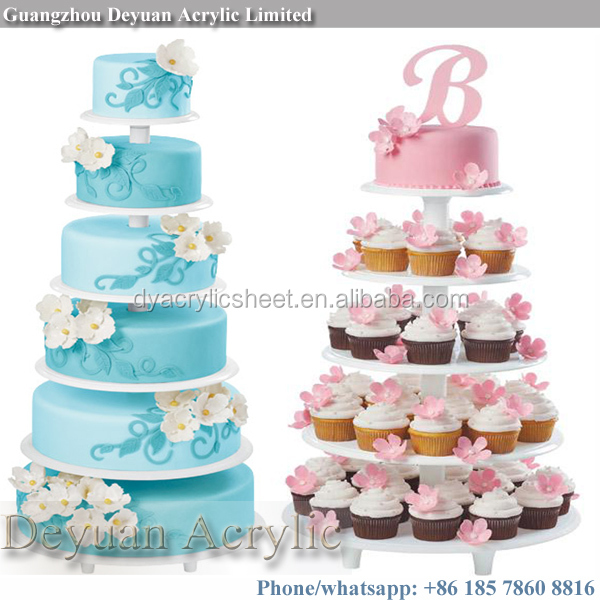 Acrylic Material 5 Tier Cake Pop Stand Good Quality