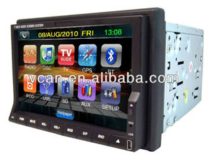 2 din GPS gps software for car stereo with Build-in TV modes BT and touch screen VCAN0771