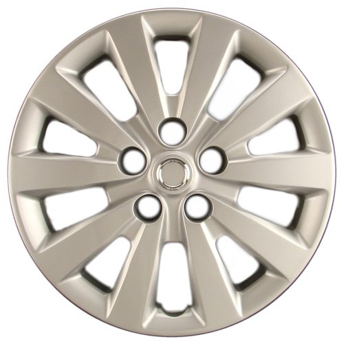 "Hubcaps.com Premium Quality 16"" Silver Hubcap/Wheel Cover fits Nissan Sentra, Heavy Duty Construction (ONE single hubcap)"