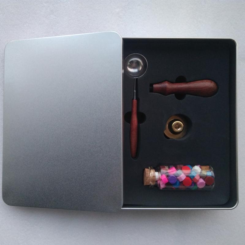 Elegante holz griff benutzerdefinierte wachs dichtung hochzeit briefmarken