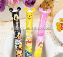 Han edition cartoon ballpoint pen Snow White/mickey cartoon double color ball pen PN6645