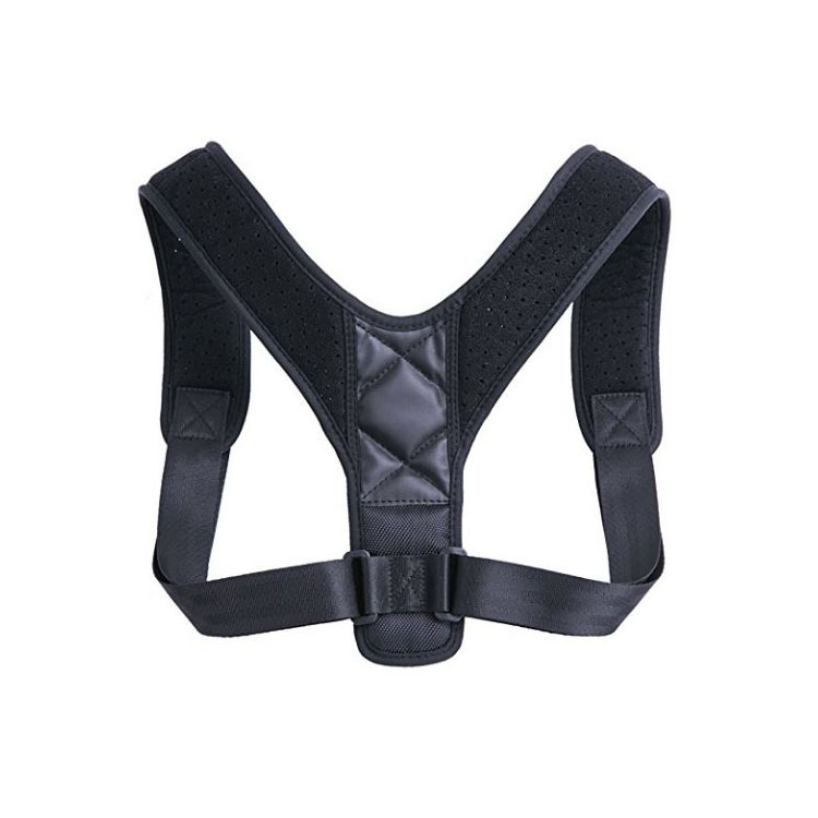 Comfortable Adjustable Neoprene Back Brace Posture Corrector, Customized color;black