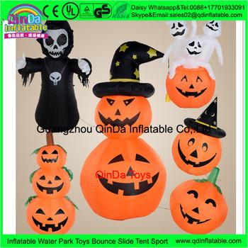 amusement park outdoor giant halloween decoration inflatable pumpkinlarge plastic halloween pumpkin - Large Plastic Pumpkins