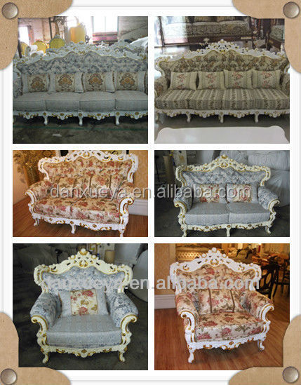 Alibaba China Foshan Furniture , French Provincial Ecotic Royal Luxury Carved Sofa