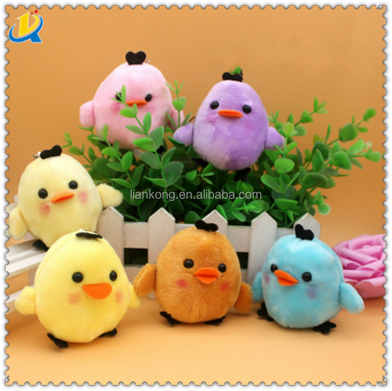 6CM plush ball chicken pendant cute little yellow chicken year mascot chicken hanging pendant doll plush toy