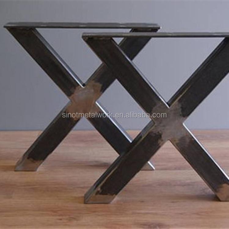 X Shape Metal Table Legs Wrought Iron Crossed Piato Bench Legs