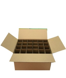 24 bottles corrugated paper packing box for transport and shipping hot sale in China