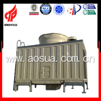 500T FRP low noise single fan square cooling tower rentals