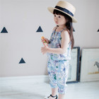 Cheap Price Hot Selling Child Vest Shorts Multiple Lovely Print Baby Girl Clothes