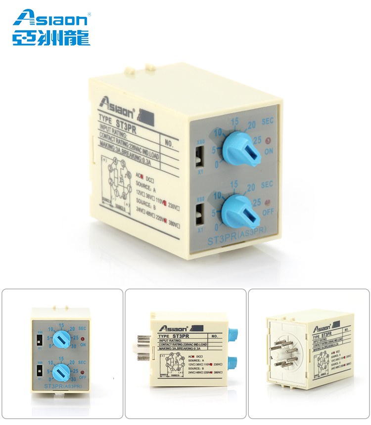 Asiaon St3pr Electronic Time Relay