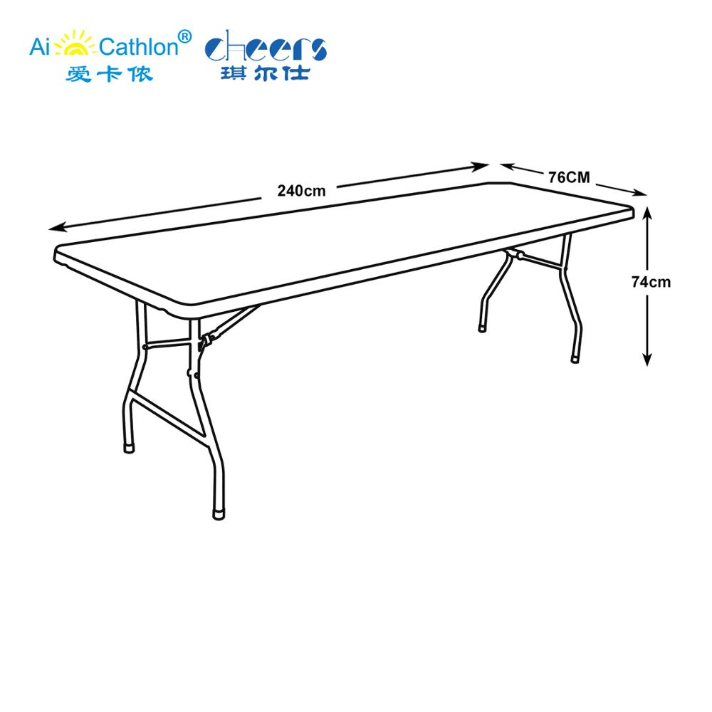HDPE Plastic Tables 8 feet Folding Banquet Table Lightweight Plastic Foldable Coffee Catering Table