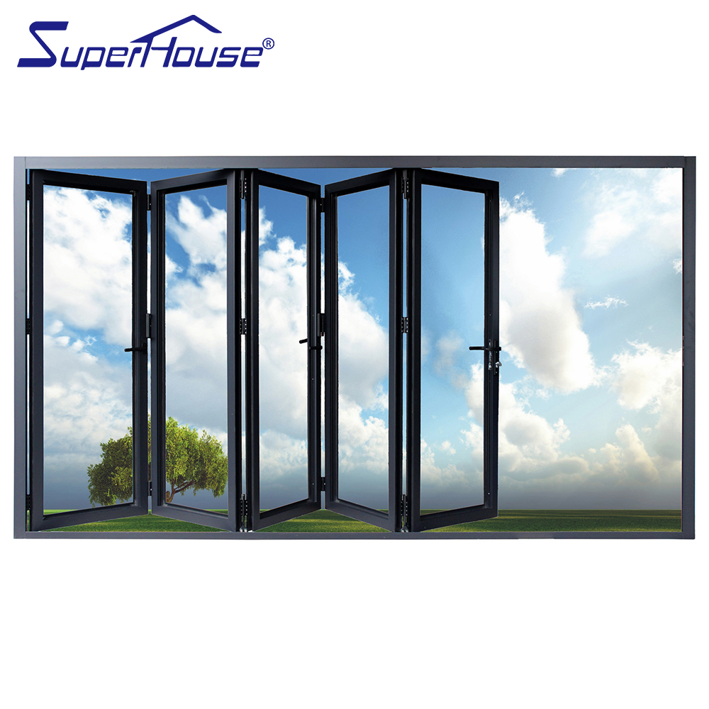 Hot sales Euro folding door system accordion folding door for restaurant