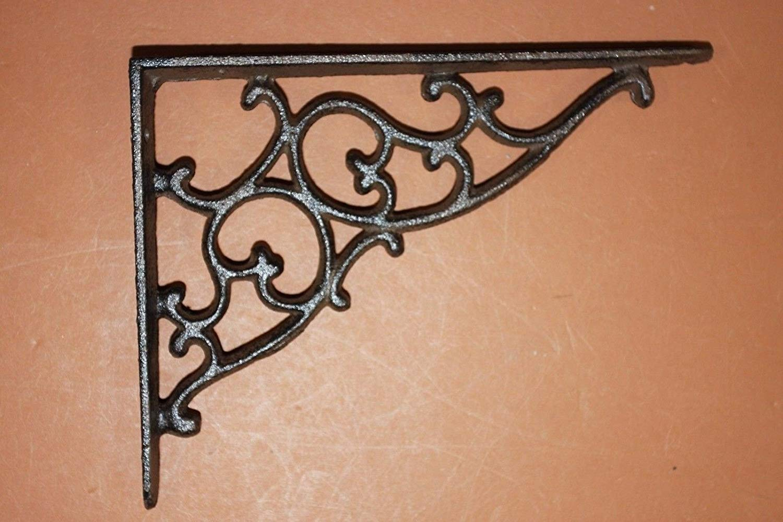 "Southern Metal DIY Library Shelves Cast Iron Wall Shelf Brackets 7 1/8"" x 5 3/8"", Set of 12 B-1"