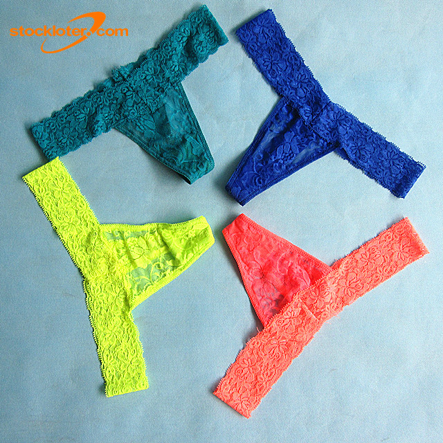 Ladies Colorful Lingerie Sexy Lace Thongs Stock