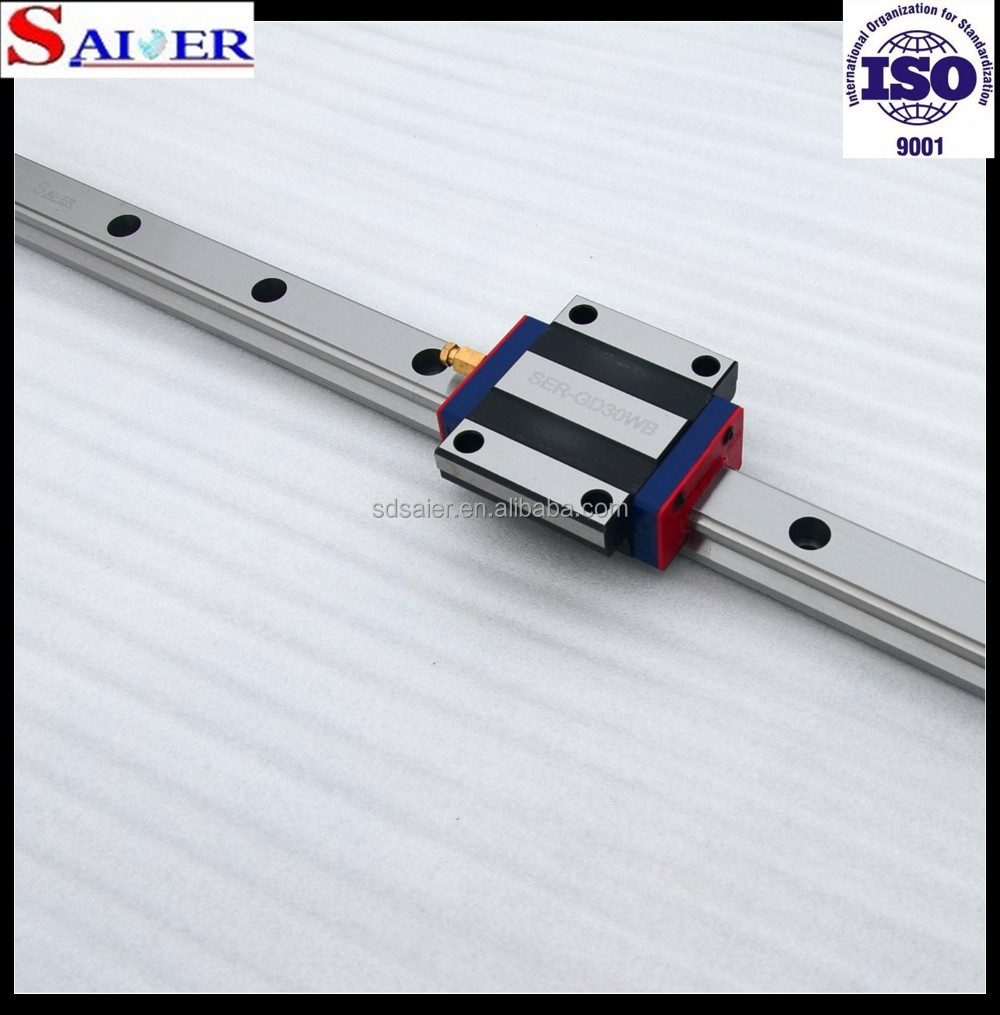 Fast delivery 100 to 4000mm stroke ball screw linear rail guide for cnc machining SER-GD30WBL
