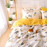 High Quality Wholesale Cotton linen Duvet Cover Bed Sheet Set