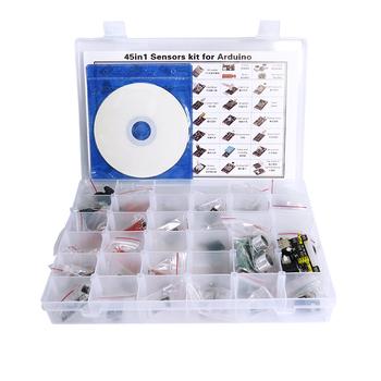 Actualizado Diy 45 En 1 Módulos De Sensor De Kit De Aprendizaje Para Arduinos La Educación Buy Módulos De Sensor De Kits De Arduinos Kit De