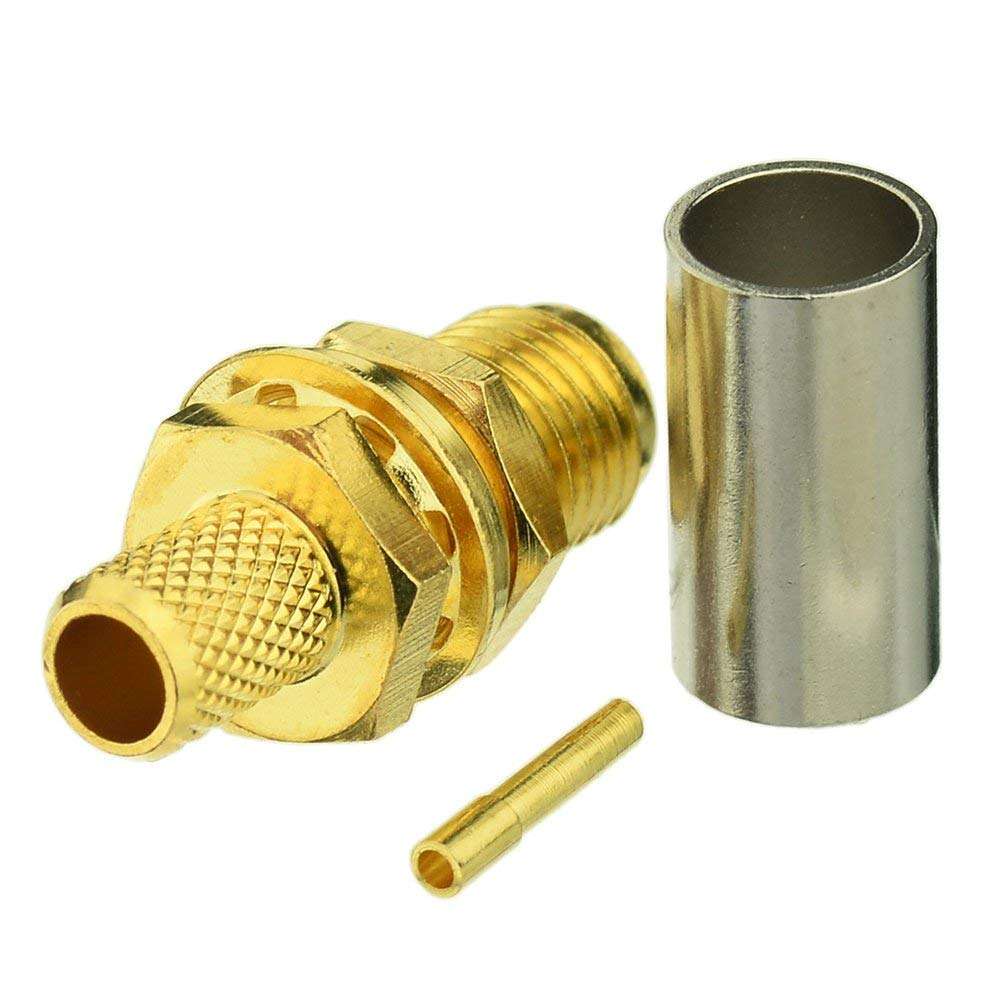 by W5SWL ® N Male Crimp RF Radio Connector fits RG-58 LMR195 Coax Cables
