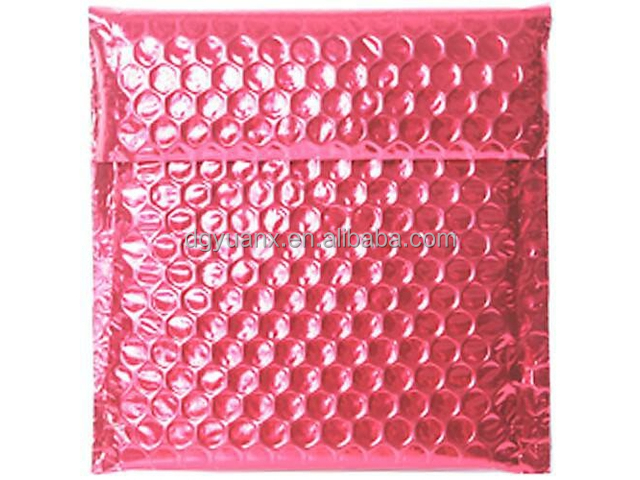 Kleine Rode Gloss Metallic Padded Bubble Mailing Envelop
