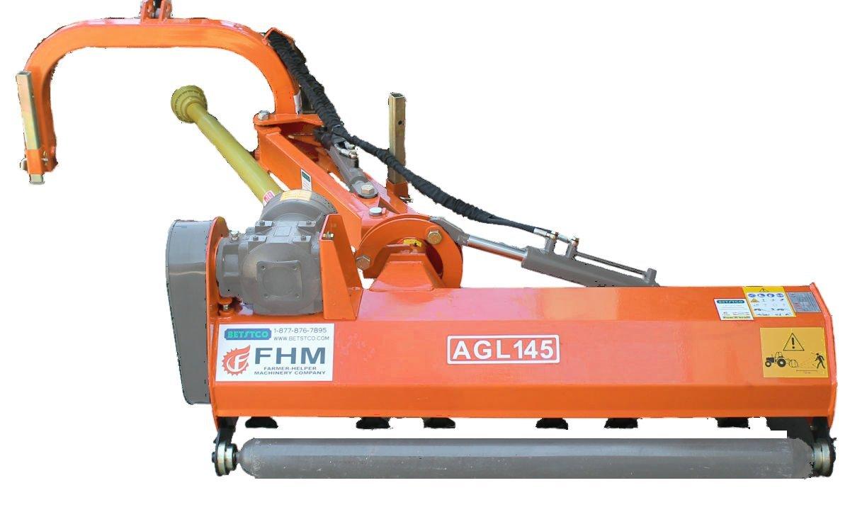"Farmer Helper 57"" Ditch Bank Flail Mower Cat.I3pt 40hp~65hp (FH-AGL145) w/Hammer Blades"