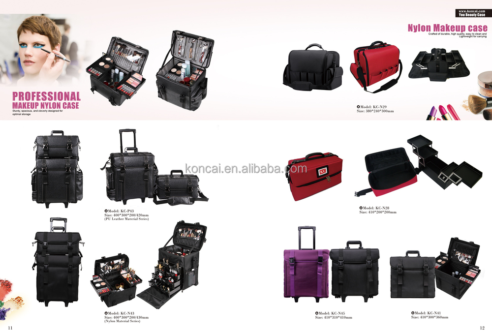 Vanity PVC professional nail case With many compartments & 2 drawers