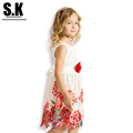 S K High end Clothing 2016 European style Kids Clothes Irregular Hem Princess Dress for Girls