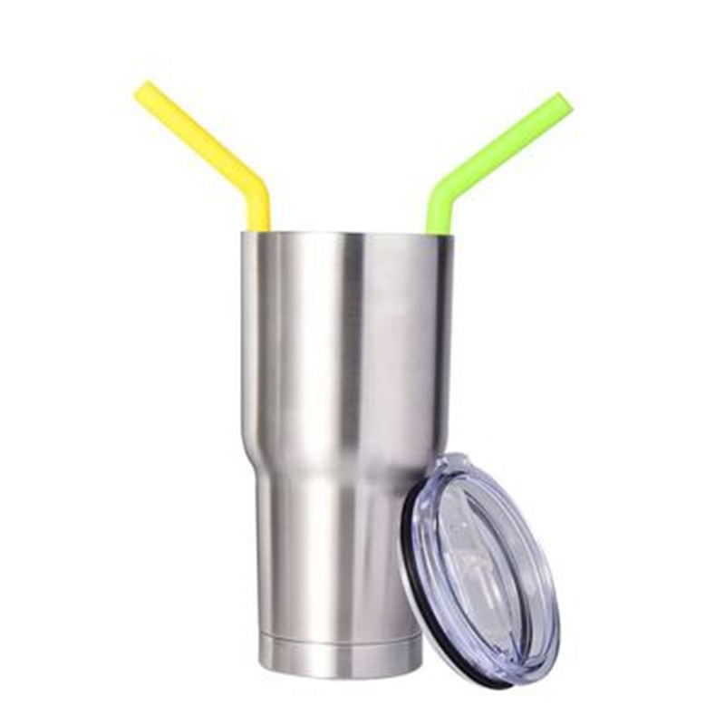 Wholesale BPA Free Safely Reusable Silicone Drinking Straws Set with Brush