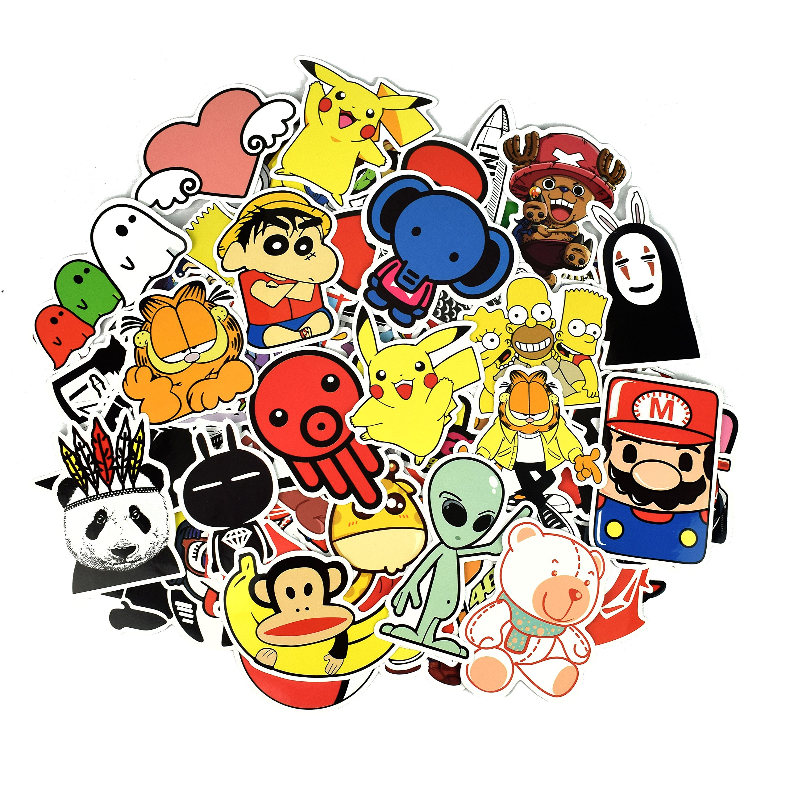 Homerity 100Pcs Stickers Skateboard Stickers Car Stickers Laptop Stickers Random Style Mix Fashion Graffiti Stickers Helmet Luggage Guitar Bike Suitcase Stickers (F)