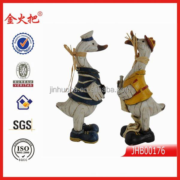wholesale polyresin fake wood farm animals decorations
