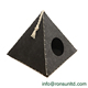2018 Fashion Design New Best Selling 100% Polyester Felt Pyramid Shape Triangle Pet Cat Cave Dog Bed