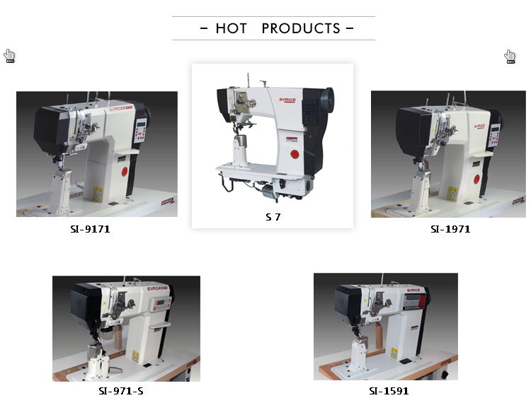 S7 single needle leather post bed sewing machine