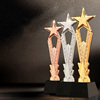 New fashion star award resin crystal trophy