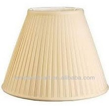 Pleated Cloth Covered Plastic Lamp Shade - Ivory