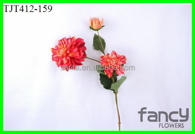 fake dahlia whole sale 3 heads making for decoration