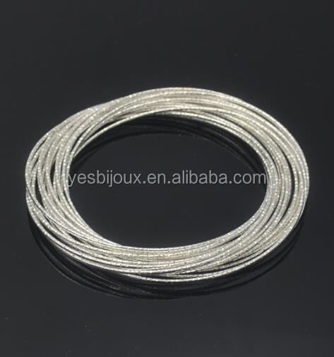 925 sterling silver bangle multi strand slim bangle ten hoop bangle фото