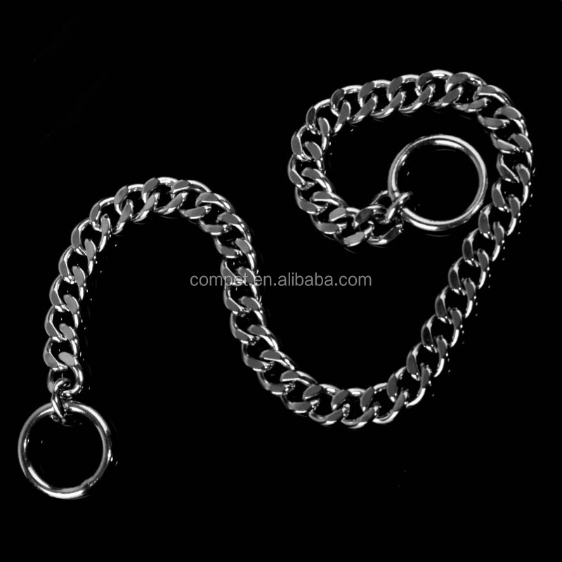 Wholesale polished P chain pet supplies stainless steel dog chain