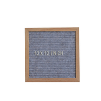 Wholesale Wooden Arts And Craft 12x12 Inch Felt Letter Board