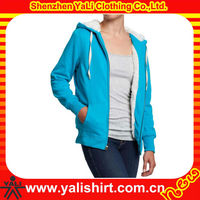 Custom fashion top quality plain cotton heavy fleece hoodie women top brands winter clothing