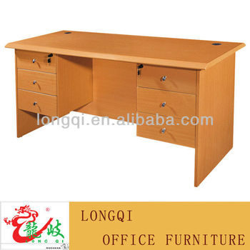 Charming Hot Sale Modern Nice Design MDF Double Side Drawer Office Computer Desk  Bedroom Study Writing Table