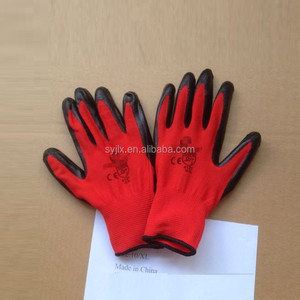 CE Standard nitrile coated work gloves cheap price