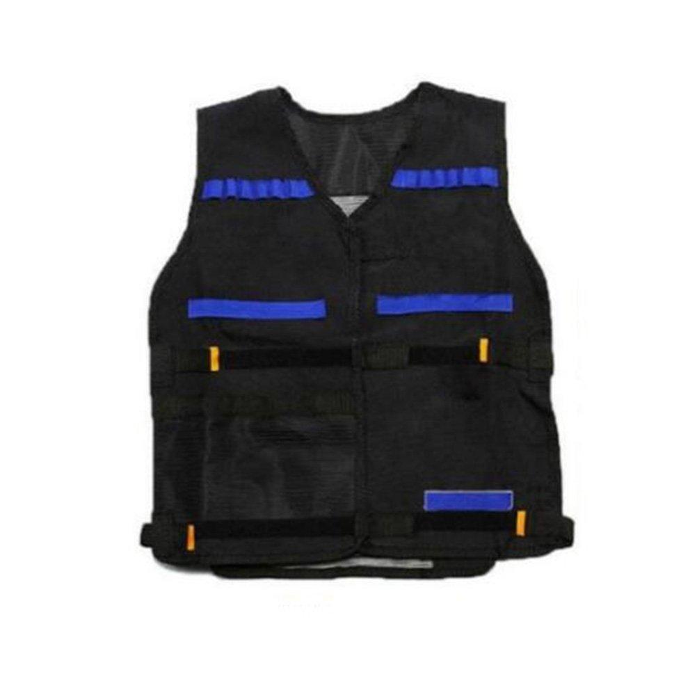 OULII Tactical Vest Adjustable for Nerf N-Strike Elite Battle Game Valentine's Day gifts for men (Black)