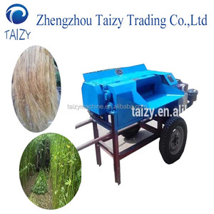 hemp fiber carding peeling machine hemp decorticator machine